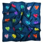 Szívek kék kendő 74