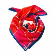 Budapest pink-piros-kék selyemkendő