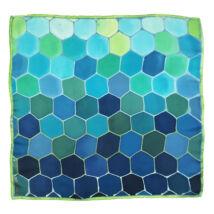 Hexa türkiz-kék selyemkendő