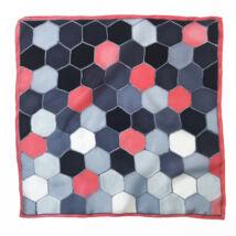 Hexa korall szürke selyemkendő