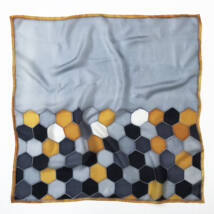 Hexa szürke mustár selyemkendő