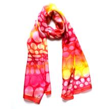 Kaméleon piros-pink selyemsál