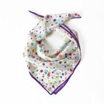 Konfetti selyemkendő lila szegéllyel