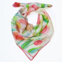 Tulipános selyemkendő pasztell árnyalatokban