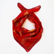 Volare tűzpiros selyemkendő