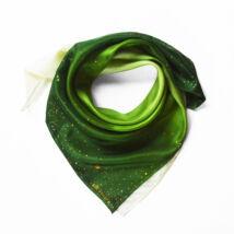 WhiteWinter méregzöld selyemkendő