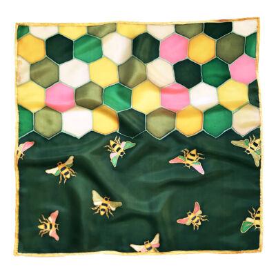 Hexa méhecskés zöld árnyalatú kendő