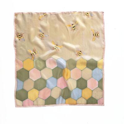 Hexa méhecskés pasztell bézs árnyalatú kendő