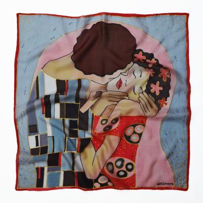 Klimt csók selyemkendő