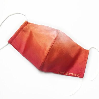 Selyemmaszk piros-narancs színátmenetes