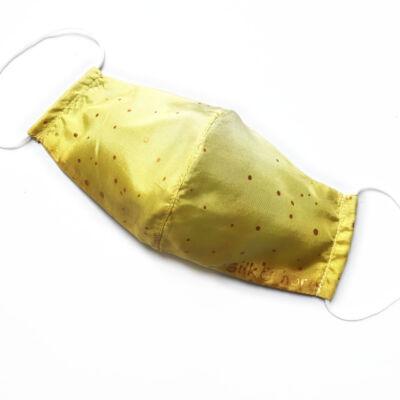Selyemmaszk arany pöttyös színátmenetes