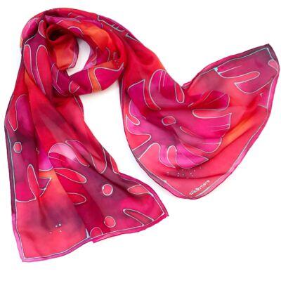 Pálma pink-piros selyemsál