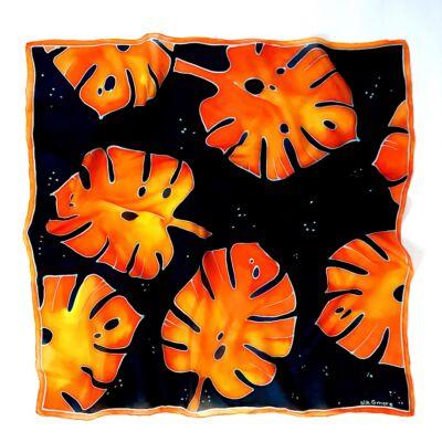 Pálma sötétkék-varancs selyemkendő