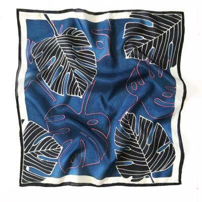 Pálma sötétkék selyemkendő