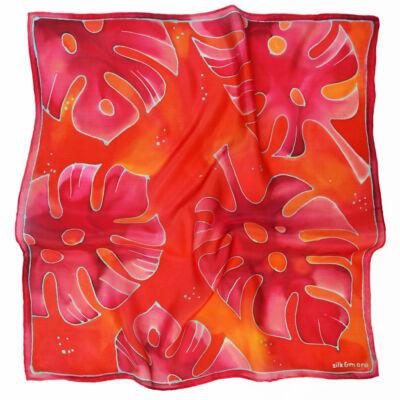 Pálma piros-pink selyemkendő
