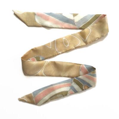 Skinny  vékony pasztell selyemszalag