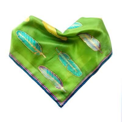 Volare ragyogó zöld selyemkendő