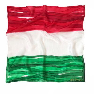 Nemzeti trikolor selyemkendő