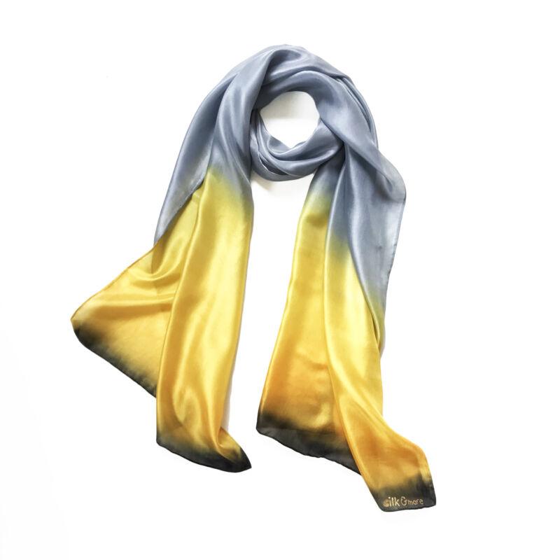 Colorfull platina-sárga selyemsál