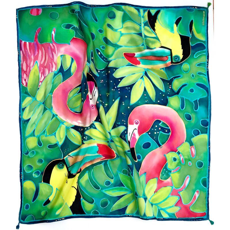 Flamingo&Tukán nagy kendő