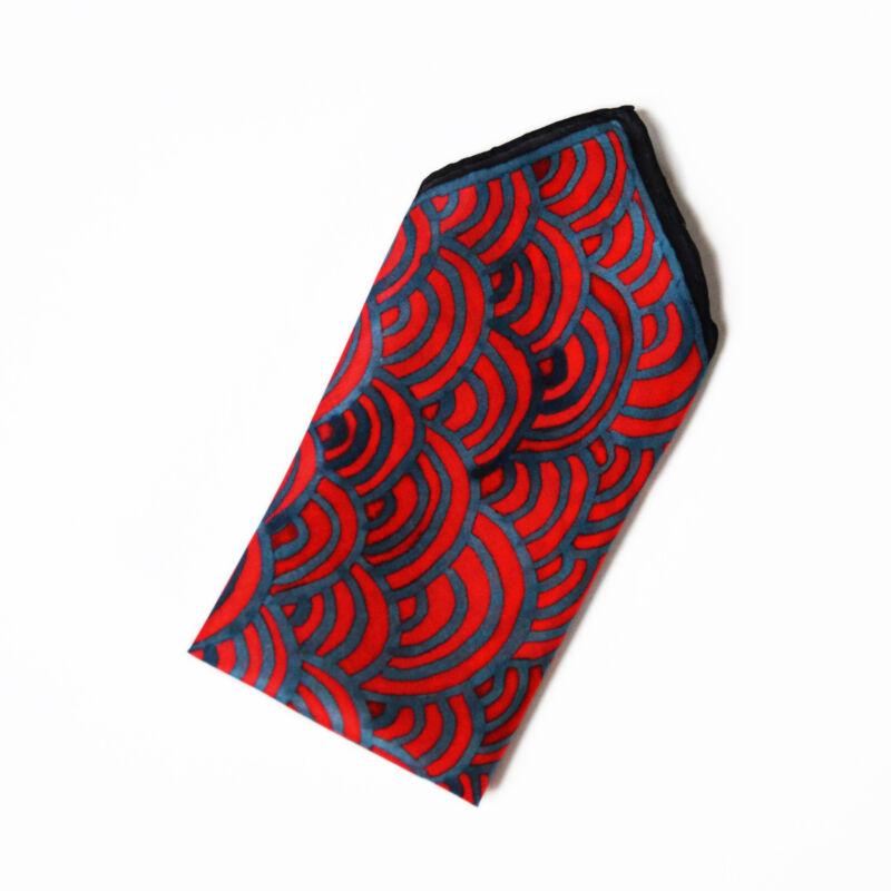 Graphics díszzsebkendő kék-vörös