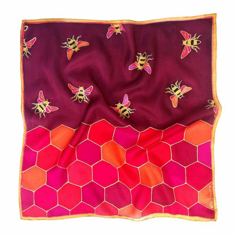 Hexa méhecskés selyemkendő