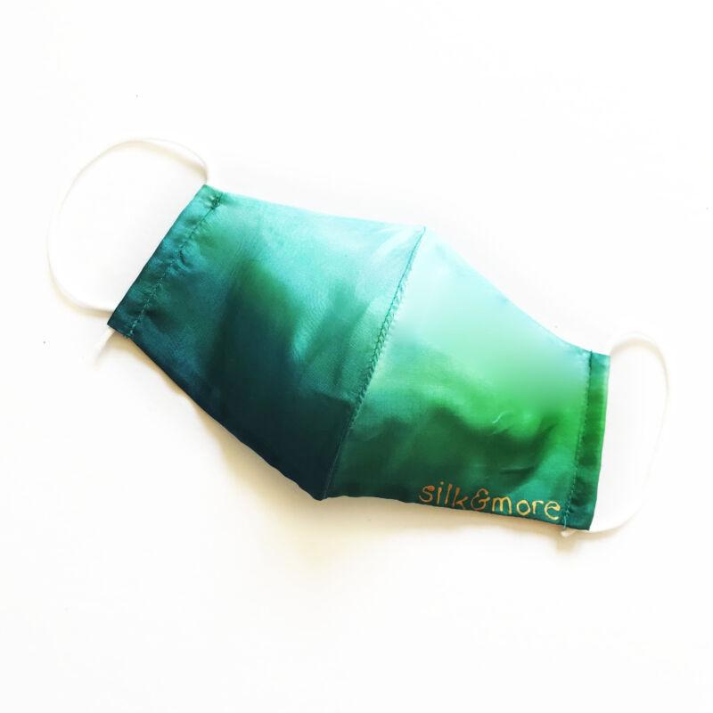 Selyemmaszk zöld-karibikék színátmenetes
