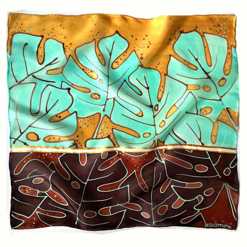 Pálma barna-menta selyemkendő