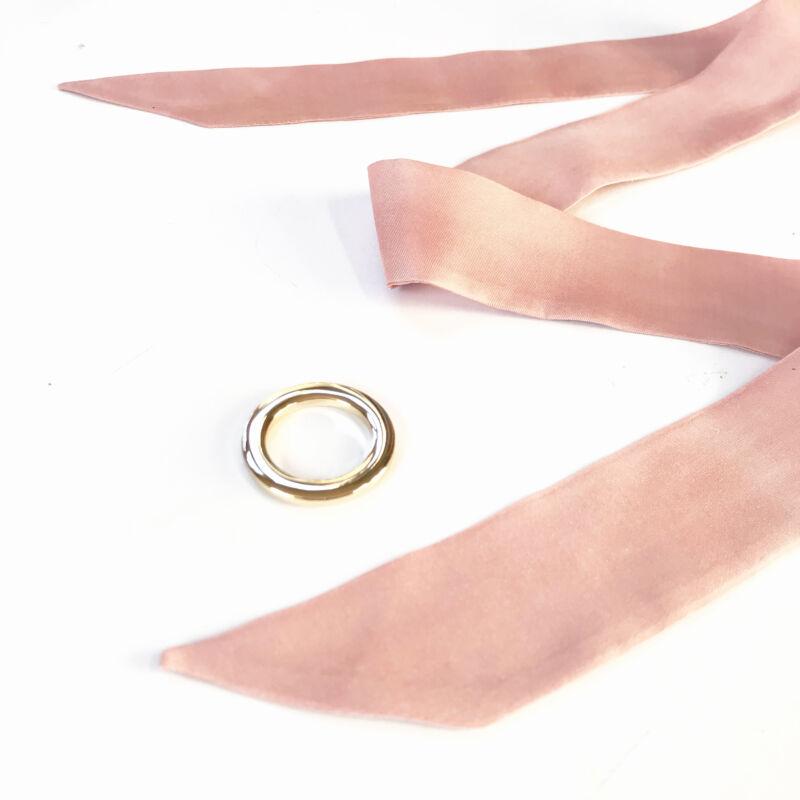 Skinny  vékony pasztell rózsaszín selyemszalag
