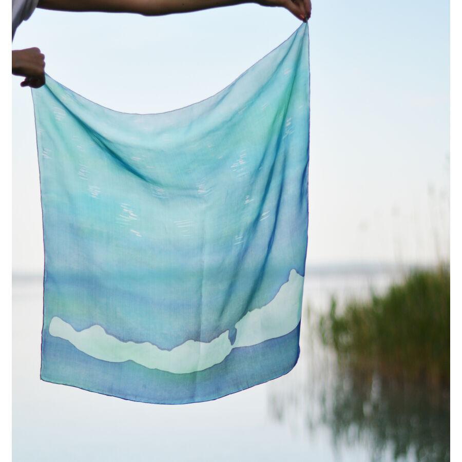 Balaton közepes méretű selyemkendő