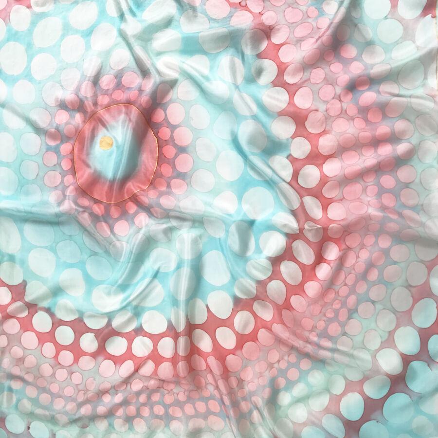 Kaméleon nagyméretű égkék púder selyemkendő