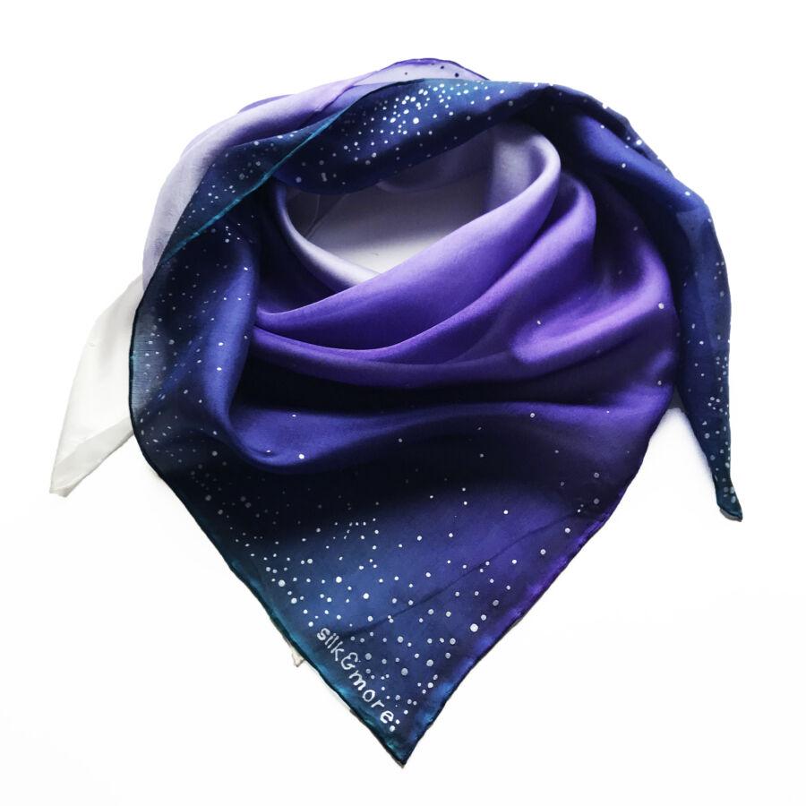 WhiteWinter Lila selyemkendő